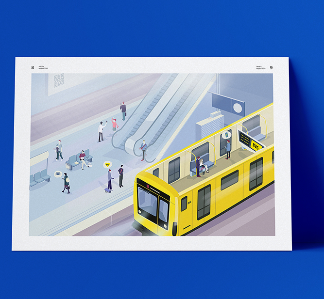 BVG – Illustration Digitalisierung